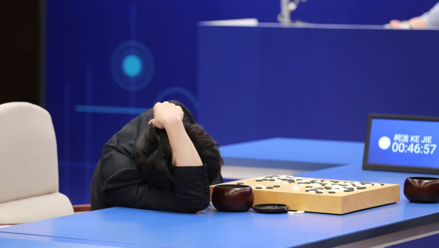 ke jie lost to alphago